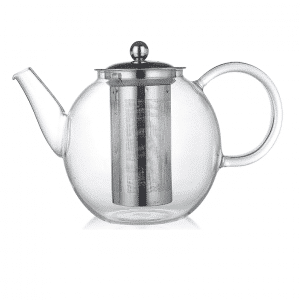קנקן תה זכוכית עם מסננת נירוסטה 2 ליטר