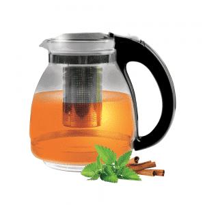 קנקן תה מזכוכית מסננת נירוסטה 1.5 ליטר